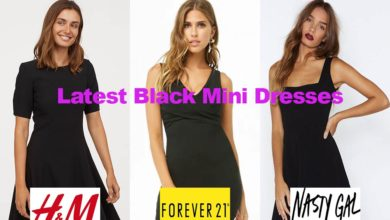 The latest in black mini dress fashion designs