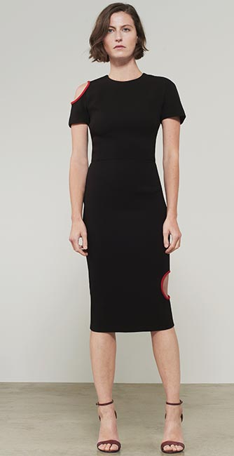 Cut Out T-Shirt Fitted dress from Victoria Beckham