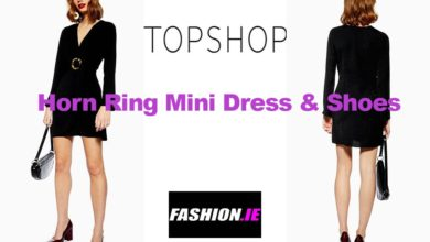 Latest fashion Horn ring dress and shoes from Topshop