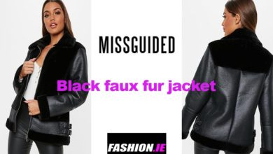 The latest in black faux fur jacket design from Missguided