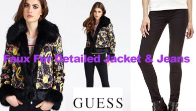 Fashion review faux fur detailed jacket and jeans