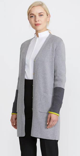 Grey Boyfriend Cardigan from designer Peter O'Brien