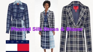 Pleated dress and blazer from Tommy Hilfiger