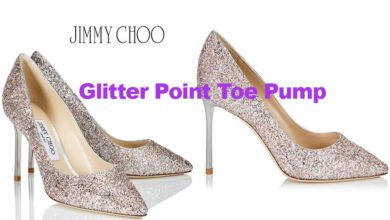 Speckled glitter pointy toe pump from Jimmy Choo