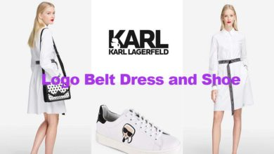 Fashion review logo dress and shoe from Karl Lagerfeld