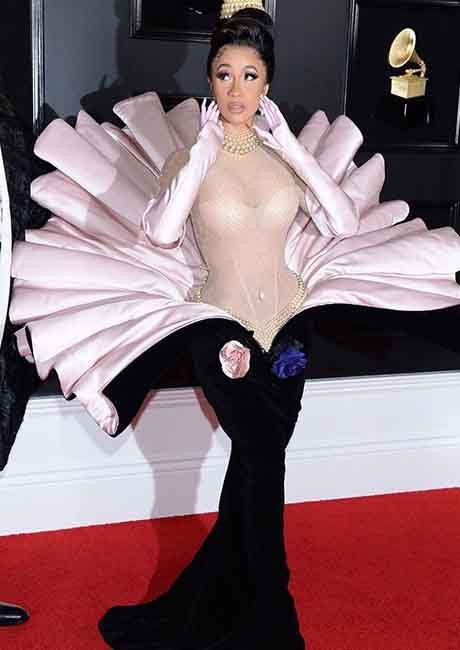 Cardi B's Thierry Mugler couture piece that she wore to the Grammy 2019