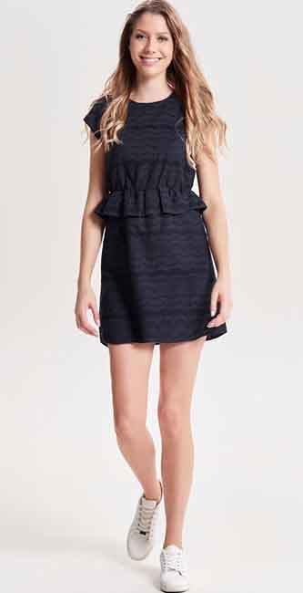 Embroidery sleeveless Mini Dress from Only
