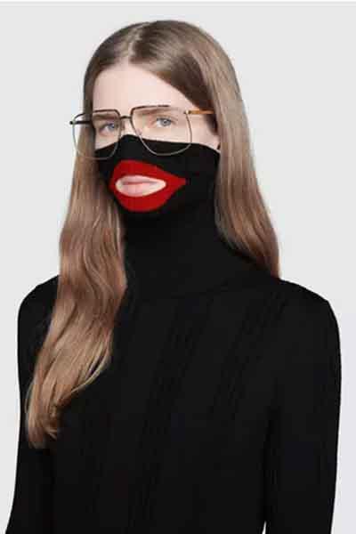 Gucci black balaclava jumper