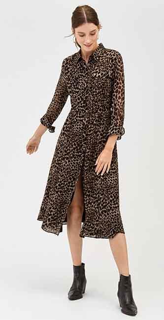 Leopard Print Midi Dress from Warehouse